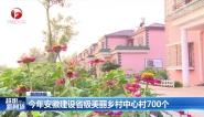 今年安徽建设省级美丽乡村中心村700个