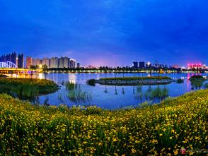 蕭縣:夜色闌珊汴河岸